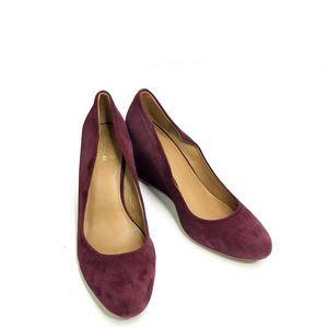 Coach Rileigh Wedge Pump Suede Shoes